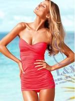 Beautiful sexy pumping bikini split swimwear two ways female VS
