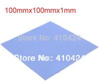 (2 pcs/lot) Blue Thermal Pad GPU CPU Heatsink Cooling Conductive Silicone 100mm*100mm*1mm