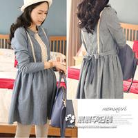 Maternity shirt skirt maternity top denim vest maternity clothing autumn