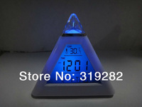 7 color changing Digital LED Alarm clock free shipping as good gift  #nk044