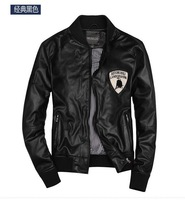 free shipping hot sale Trade with the original single men's Leather Jacket Mens Leather Men's Jacket Mens PU locomotive 119