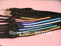 Retail+Wholesale Black Band LED Light Up Dog Leashes Flashing Dog Collars and Leashes 8 colors Free shipping