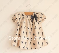 Children like a young stag bowknot lovely doll unlined upper garment