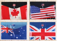 10pcs/lot  office supply FLAG design PP file folder ,document folders ,school file bag ,,report cover A4 SIZE