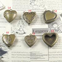20*4mm mix styles free shipping wholesale 10pcs/lot brass lockets