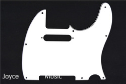 New White 3 PLY Electric Guitar Pickguard For Fender Tele Style Guitar FreeShipping(China (Mainland))