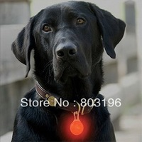 Wholesale 50PCS/Lot LED Pet Pendants for Collar Dog Tag Dog Cat Pendants with safety light 8 Colors Free Shipping