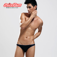 Asianbum rhinestones male panties briefs ultra-thin viscose comfortable low-waist sexy underwear