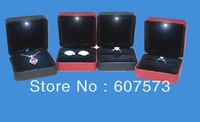 DHL Free shipping NEW led light box  high quality ring box