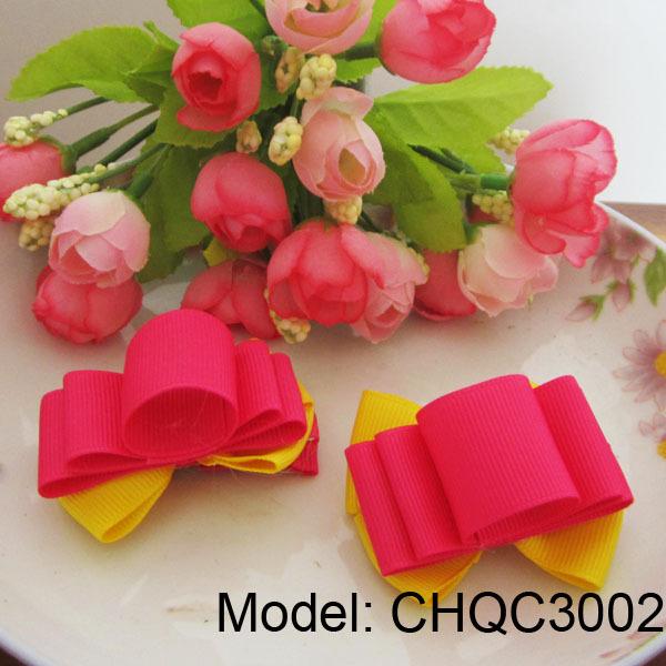 Baby Girl Flower Hair Clips Hair Bows Hair Accessories Fashion Design Shocking Pink(China (Mainland))