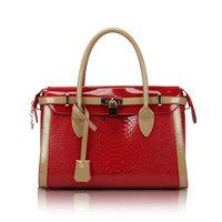 2014 fashion Color block women's handbags fish scale patterm  red bride japanned leather bag crocodile pattern messenger bag