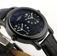 Free Shipping!!! EYKI Fashion Strap Dual Time-Zones Quartz Watch For Men