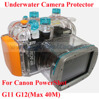 Waterproof Camera Case for Canon G11 G12, Underwater Camera Hosing 40meters Waterproof and 1meter Shckproof Digital Camera Case