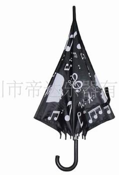 High quality umbrella 3 folding Umbrella music pattern Tarps + metalThe daily necessities Gift Musical Instrument stave umbrella
