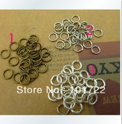 FREE SHIPMENT,100g/lot Metal Open Jump Rings Split Ring Jewelry Findings DIA:5mm Antique Bronze Diy Jewelry Making Materials(China (Mainland))