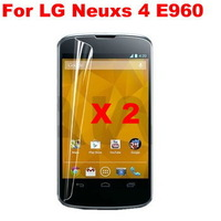 2pcs High Clear LCD Screen Protector Mobile Phone Screen Guard   for LG Nexus 4 E960