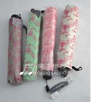 High quality umbrella 3 folding Umbrella music pattern Tarps + metalThe daily necessities Gift Musical colorful notes umbrella