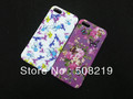 Free shipping,20pcs/lot Flower Butterfly Back Cover TPU Case For iPhone 5 5G,For iphone 5 TPU Case  Sales Promotion