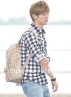 (free shipping CPAM) EXO luhan NG fan rivets backpack school bag backpack