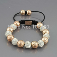 NYB-367 Hot sell wholesale jewelry,fashion bracelets,Shamballa Bracelet crystal Micro Pave CZ Disco Bead free shipping