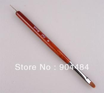 New Arrival + Professional French Gel Brush + Dottin Tool Size 8 Nail Art Gel Brushes 5pcs/pack Kolinsky Pen Wholesale 441