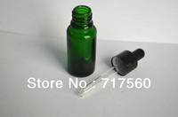 10PCS 15ML 1/2 OZ Green GLASS EYE DROPPER BOTTLE/VIALS ENSSENTIAL OIL BOTTLES NEW & EMPTY