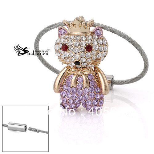 Free Shipping New Design Car Key Ring, 3D Bear Key Ring Alloy With Crystals, Promotion Hot Sale Item!(China (Mainland))