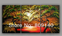 Free Shipping Surreal wall landscape scenery oil painting canvas High Quality handmade modern home office wall art decor Artwork
