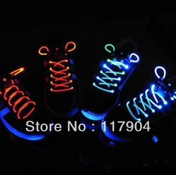 Wholesale - Hot selling Latest model LED Flashing shoelace light up shoe laces Laser Shoelaces(China (Mainland))