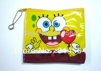 Yellow SpongeBob PURSE COINS BAG Keychain