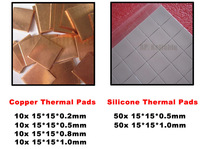 Crazy Promote Combined Thermal Conductive Pads Copper, Silicone Heat Transfer Mat for PC RepairGPU Sorth North Bridge Memory IC