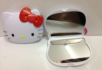 Free Shipping/New Kawaii quality hello kitty 3D hand Mirror / pocket mirror