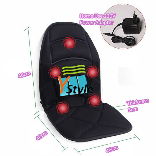 Vibration Massage Chair Cushion with Far Infrared Heating for Neck Shoulder Back Waist Massager Heat Seat for Home Car Office(China (Mainland))