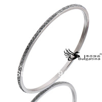 Newest Fashion Jewelry Crystal Filled Cuff Wristband Style Rhinestone 316L Steel Bangles Bracelets For Girls Free Shipping