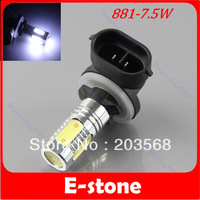 Free Shipping 7.5W AC12-24V SMD 881 Car Vehicle LED White Driving Fog DRL Light Lamp Bulb