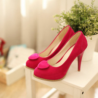 2013 new style fashion women's thin high heel shoes Pointed Toe fur pumps 5 colors free shipping SJL-B-2