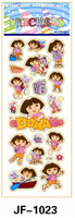 20 Sheets Combo Deal,  Free shipping  TY0030 Dora the Explorer Stickers, Girl Stickers, Soft Vinyl Plastic