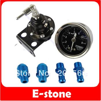 D19+Hot Sale! Adjustable Fuel Pressure Regulator /Fuel Regulator With Oil Gauge Type-S Free Shipping