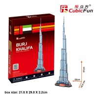 Children favorite toy gift New arrival 3d paper puzzle model stereomodel C151H Burj Khalifa tower christmas free shipping