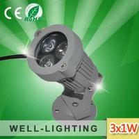 3W outdoor led spot light ,underground light/landscape ligt with spike 3200K,White6500K  LS02-3x1W