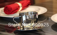 150ml   stainless steel-double walls-square bottom coffee cup set-tea cup set