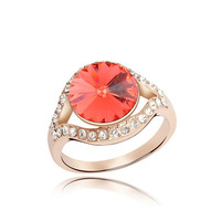 Free shipping Shop the real thing! Austrian crystal ring America and Europe pop elements act the role ofing is tasted true love