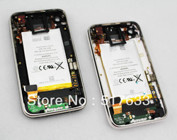 White Back Cover Housing for iPhone 3G with Front Bezel Frame and Battery full set Assembly+Sim Tray(Free)(China (Mainland))