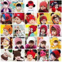 Children hats hat baby child hat scarf set knitted hat