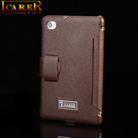10pcs DHL Free Shipping Top Quality  Genuine Real Leather Fold Flip Case for ipad mini Original ICarer