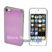 Fashion Clip On Hard Back Cover Case For iPhone 5 Pink Red Free Shipping 8313