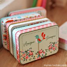 Free shipping,5pcs/lot, tin sheet small storage box Creative flash card box(China (Mainland))