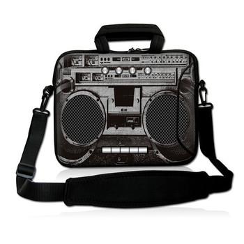 """Old cassette 10""""Laptop Carrying Bag Sleeve Case Cover w/Side Pocket +Shoulder Strap For 9.7"""" -10.2"""" Laptop Tablet PC"""