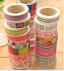 Freeshipping / New High quality washi masking tape/ vintage tower sweet lace flower adhesive tape / DIY sticker label(China (Mainland))