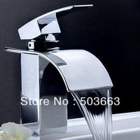 Deck Mount Basin Faucet Chrome Vessel Basin Mixer Tap Vanity Faucets Brass Tap Sink Faucet Swan Items L-0137